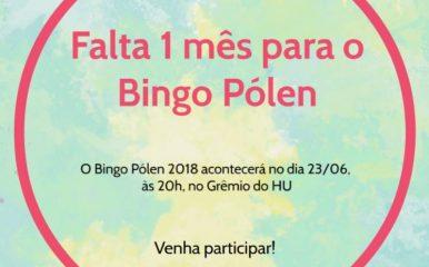 Falta 1 mês para o Bingo Pólen
